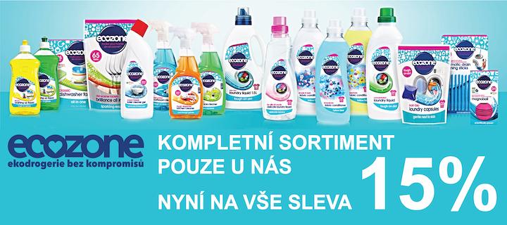 BioDrogerie.cz - Ecozone ekodrogerie 15 sleva